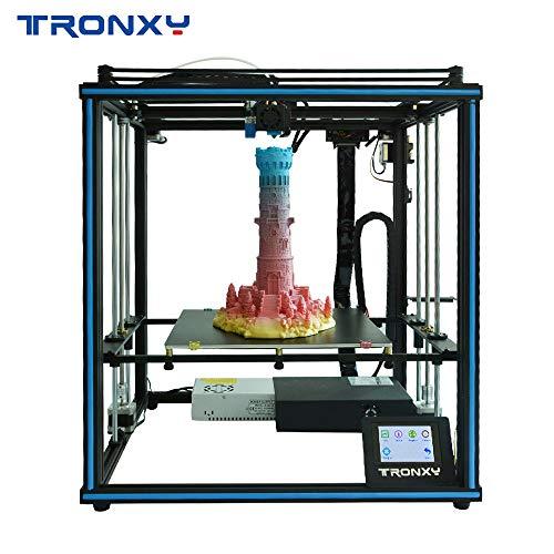 Tronxy Stampante 3D X5SA Auto Leveling qualità puleggia filamento Run Out Detection doppio ventilatore design con touchscreen da 3,5 pollici (8,89 cm)