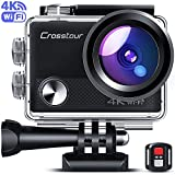 Crosstour Upgraded 4K 20MP <span class='highlight'>Action</span> Camera Cycling with WiFi LDC Remote Control Sports Camera 40M Waterproof Underwater Camcorder with Accessories Kit