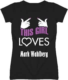 Mark Wahlberg this girl loves heart hot T shirt