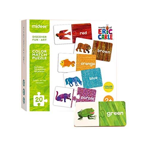 Puzzles Spielzeug Kinder Early Education Baby-Aufklärung Digital Color Matching Cognitive 3 Jahre und älter Brainteaser (Color : Colour)