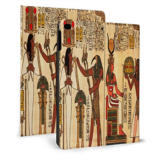 Ancient Egyptian Papyrus Painting Ipad Case mini4/5 & ipad air1/2 TPU Protective Stand Cover with Auto Sleep Wake Up Ipad for IPad 7.9'&9.7' Tablet