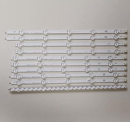 LMIAOM 10PCS / set La nueva tira de LED for LG TV de 42' 6916L-1385A 6916L-1386A 1387A 1388A 42LA6200 42LA620S 42LA620V 42LA615V 42LA620V Nueva barra de luz LED (Color : 10 set)
