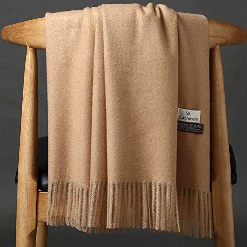 Elegent Dress-scarf Herbst und Winter Einfarbig Dicken Warmen Dual-Use-Schal, Kamel, 200 * 70CM