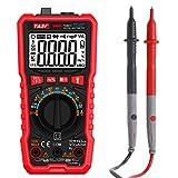 LTPAG Multímetro Digital Automático 9999 Cuentas, Profesional Amperímetro Voltímetro Ohmímetro,True RMS Polimetro Mide NCV, Voltaje, Corriente AC y DC, Resistencias, Frecuencia, Temperatura, Diodos