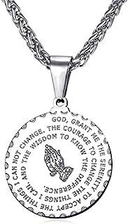 RONLLNA Bible Verse Prayer Necklace Free Chain Christian...