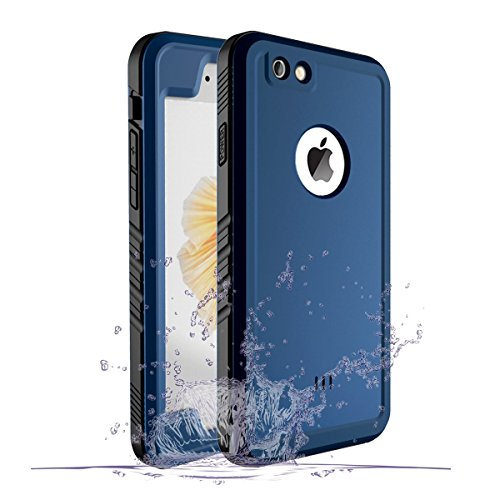 iPhone 6 Waterproof Case, Waterproof iPhone 6/6s Shockproof Full-Body Rugged Cover Case with Built-in Screen Protector for Apple iPhone 6/6s -(Blue)