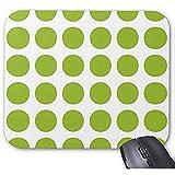 Smity Mausunterlage 30 * 25 * 0,3 cm Mauspad Fashion Designed Mousepads Lime Green Polka Dots Mauspad