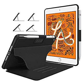 Soke Case - iPad Mini 5 Case 2019  5th Generation  [Luxury Series] Extra Protective But Slim Strong Magnetic 4 Convenient Stand Angles Auto Sleep/Wake Cover Elastic Pencil Holder Black