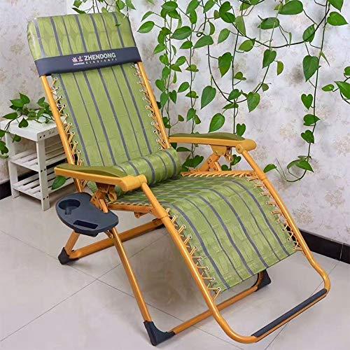 HUAXUE ZHXZHXMY Mobiliario de Ocio para el hogar Sillas Silla Silla de Cero Gravedad portátil Plegable Silla de Oficina Salón Balcón Silla de Playa de Verano (Color: B) (Color : A)