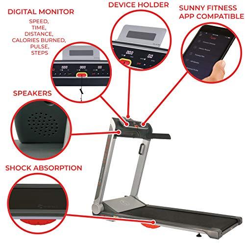 Sunny Health & Fitness SF-T7718 cinta de correr plegable ...