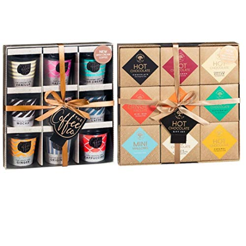 Geschenk-Set für Kaffee und heiße Schokolade – Schokolade und Kaffee Geschenk-Set Aromen Geschenk-Set für Weihnachten