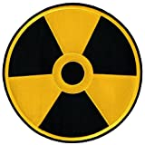 Nuclear Radiation Symbol Large Embroidered Patch Iron-On Danger Symbol Yellow Logo