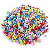 JIM'S STORE 2000 PCS 10mm Mini Pom Poms per Hobby e DIY Creativo Crafts Decorazioni Colori Assortiti Rifiniture ornate per cucito (Colore casuale)