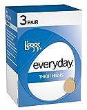 L'eggs Womens Everyday Thigh High ST 3 Pair (39300) -Suntan -B -3PK
