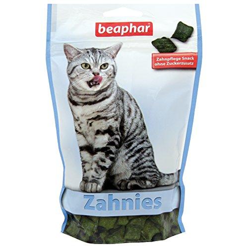 beaphar Zahnies für Katzen | Knusprige Katzen Leckerlies | Fördert die Zahnhygiene | Ohne Zuckerzusatz | 1er Pack(1x150 g)