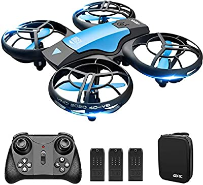 4DRC V8 Mini Drone for Kids Hand Operated RC Quadcopter with 3 Batteries Longer Flight Time, Altitude Hold, Headless Mode, Throwing GO, 3D Flip and 3 Speed Modes Aeroplane for Beginners