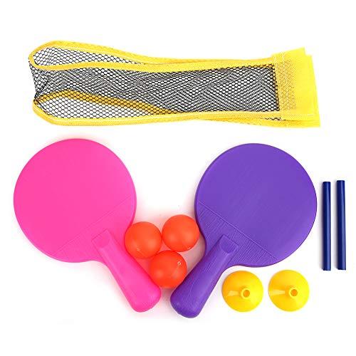 Vbestlife Juego de Tenis de Mesa para niños, Juego de Ping Pong para Cualquier Mesa - Juego de Palas de Ping Pong con Red de Tenis de Mesa y 3 Pelotas