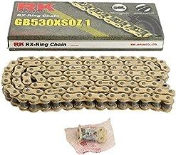 New RK GB530XSOZ1 Chain 120 Link for Yamaha FZR 600 90-99, FZS 1000 S 01-15, FZX 750 Fazer 86-87, XJR 1300 02-06, XJR 1300 SP 99-01, YZF 600 R 95-07, YZF R1 98-14, FZ 1 01-15