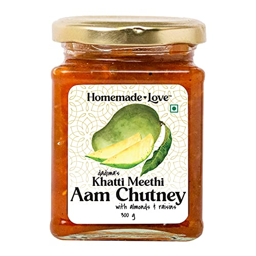 Homemade Love – Sweet and Sour Mango Chutney (300 g) | Khatti Meethi Aam Chutney | All Natural Homemade Chunda