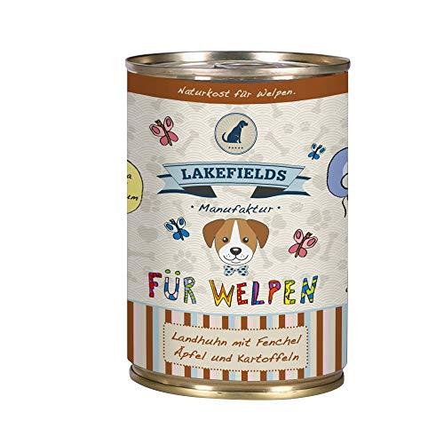 Lakefields Hochwertiges Premium Welpen Hundefutter Huhn (6 x 400g)