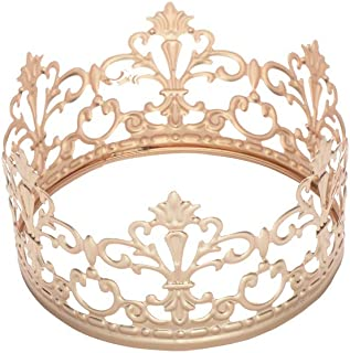 S SNUOY Gold Crown Cake Topper Small Wedding Birthday Party Decoration for King Queen Baby