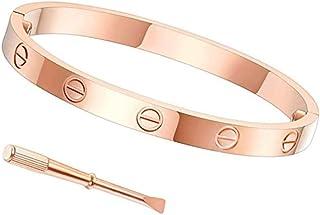 Byqone Love Bracelet, Screw Bracelet, 18k Titanium Steel Bracelet, Buckle Bangle Bracelet with Screwdriver