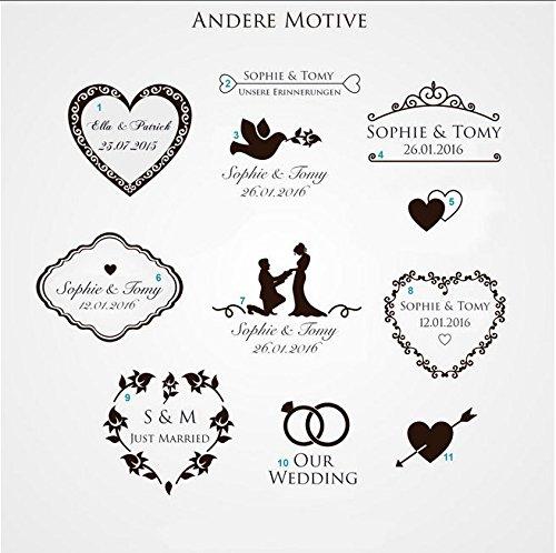 Erinnerungskiste Vintage aus Holz mit Wunschmotiv - Hochzeitsgeschenk personalisiert - Erinnerungskiste mit Gravur - Hochzeitskiste - Hochzeitstruhe - 8