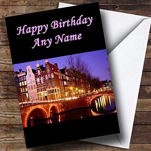 Amsterdam Gepersonaliseerde Verjaardagskaart