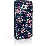 iGadgitz U3669 Rosada Florales Diseño Funda Carcasa Gel TPU Compatible con Samsung Galaxy S6...