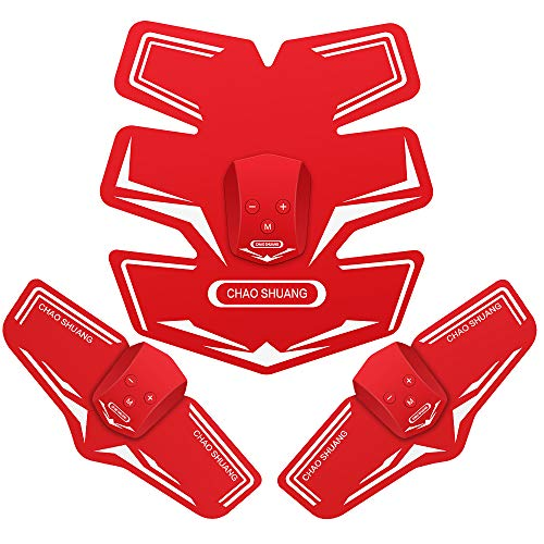 Muzik EMS 腹筋ベルト腕筋 筋トレマシン トレーニング ダイエット器具 11段階 6つモード USB充電式