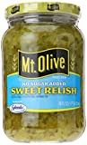 Mt. Olive No Added Sugar Sweet Relish, 16 oz...