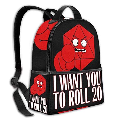 AOOEDM Ich möchte, DASS Sie einen multifunktionalen Rucksack für Damen- und Herren-Schultaschen mit dem Kettle Pocket Backpack Rollen