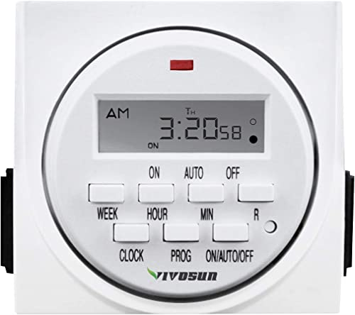 discount VIVOSUN 7 Day Programmable Digital Timer outlet sale 2021 Switch with 2 Outlets - Accurate & Stable, UL Listed 1-Pack sale