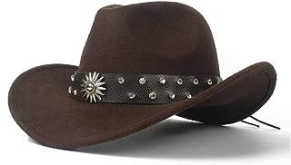 SHENTIANWEI 2019 Men Women Western Cowboy Hat with Punk Belt Winter Outdoor Hat Wide Brim Church Hat Pop Sombrero Hat Size 56-58CM
