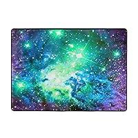 銀河印刷カーペット80 * 58インチ、ソフトコージー。 寝室、居間の装飾的な敷物のため