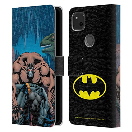 Head Case Designs Oficial Batman DC Comics Knightfall Volumen Uno Fundas de cómics Famosas Carcasa de Cuero Tipo Libro Compatible con Google Pixel 4a