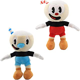 Moovi 2 PCS/Set Cuphead & Mugman Plush 9.8''(25cm) Figures