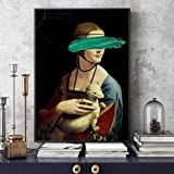 N / A Leonardo Da Vinci-Die Dame mit einem Hermelin