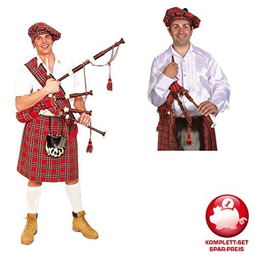 PARTY DISCOUNT Kostüm-Komplett-Set Schotte mit Dudelsack One Size