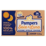 Pampers Sole e Luna Pannolini Junior, Taglia 5 (11-25 kg), 96 Pannolini