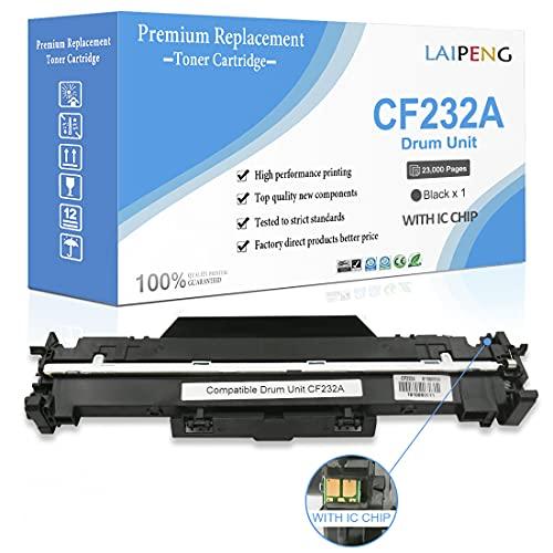 Cartucho de Tambor Compatible 32A CF232A Negro Reemplazo para HP Laserjet Pro M118dw M203d M203dn M203dw M220, MFP M227fdn M227fdw M148fdw M148dw M148fdw Impresoras Láser(Tambor, 23,000 Páginas)