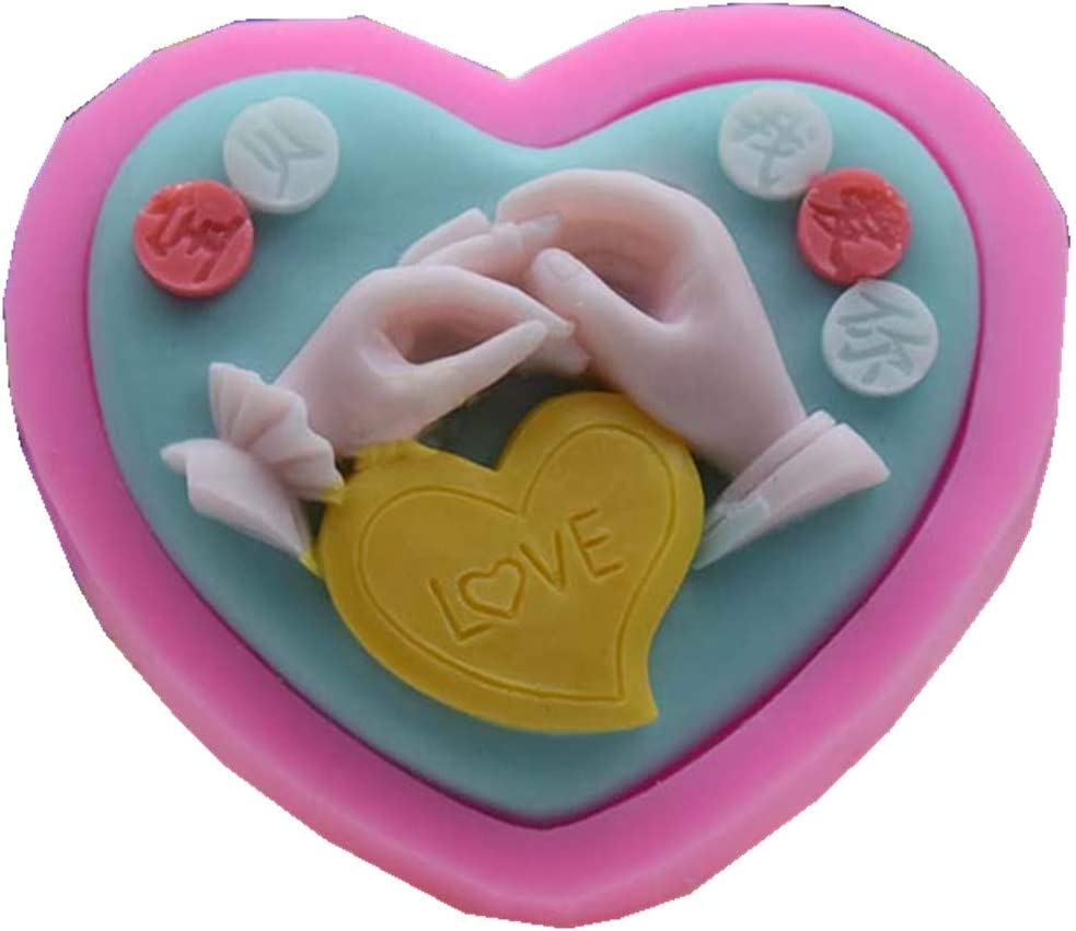 Lovely Hands Shape Silicone Mould for Soap Making Resin Craft Mold Cake Decor