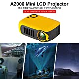 A2000 Proyector Mini Portátil Proyector de Cine en Casa Lúmenes Altavoces Duales Incorporados HD 1080P HDMI/USB/VGA/AV/Micro SD