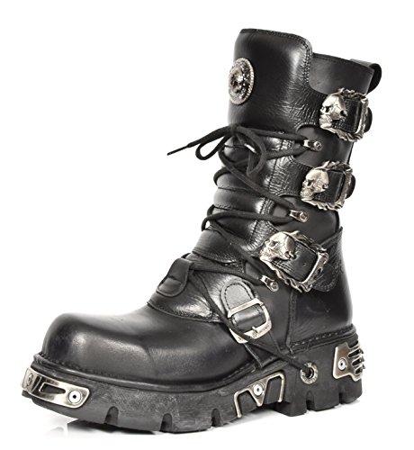New Rock Botas de Cuero Cordones Zapatos Gótico Estilo Retro Diseño