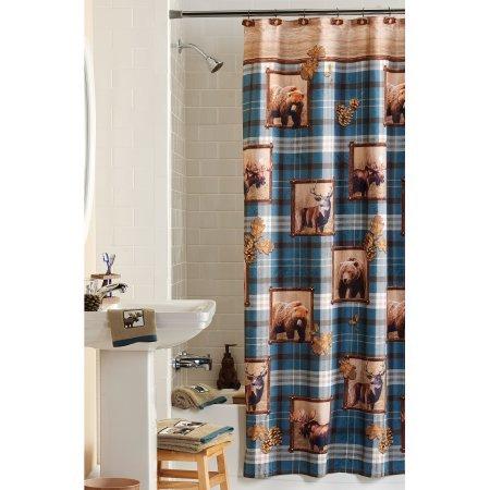 Mainstays Plaid Lodge Shower Curtain WLM