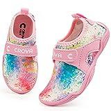 CROVA Girls Boys Water Shoes for Toddler Quick Dry Slip-on Beach Pool Swim Barefoot Non-Slip Kids Sport Shoes