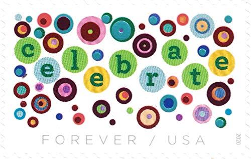 USPS Let's Celebrate Forever Stamps - Sheet of 20 Postage Stamps
