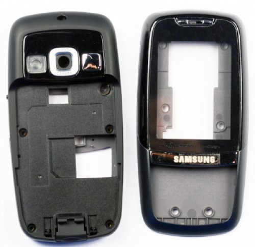 Samsung D600 Frontcover black