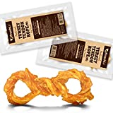 AFreschi Turkey Tendon for Dogs, Premium All-Natural, Hypoallergenic, Long-Lasting Dog Chew Treat, Easy to Digest, Alternative to Rawhide, Ingredient Sourced from USA, 2 Units/Pack Rope (Medium)