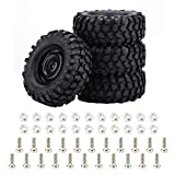 Dilwe Gomme Crawler,Pneumatici per Auto RC4 Pezzi Pneumatici gomme per 1:10 Crawler Accessori per Auto Fuoristrada RC